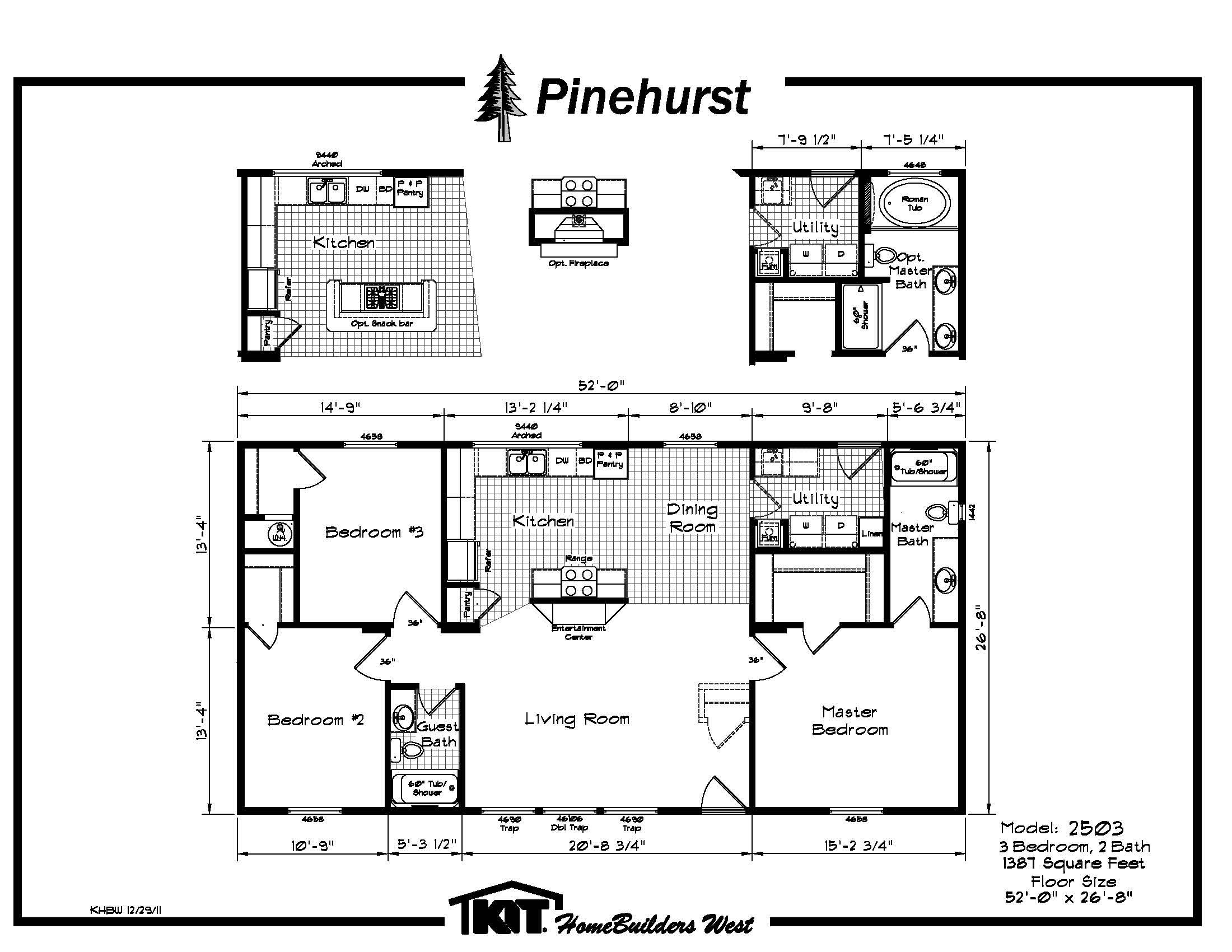 2503 Model Sales Brochure  1  jpg. Pinehurst Model Floor Plans   Century Homes Idaho